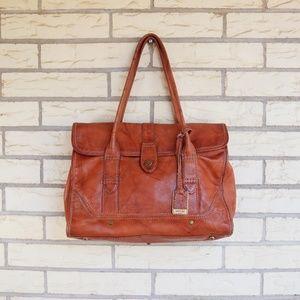 Frye Leather Shoulder Bag Distressed Western